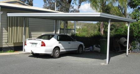 Pdf diy flat roof carport designs download english for Double carport plans