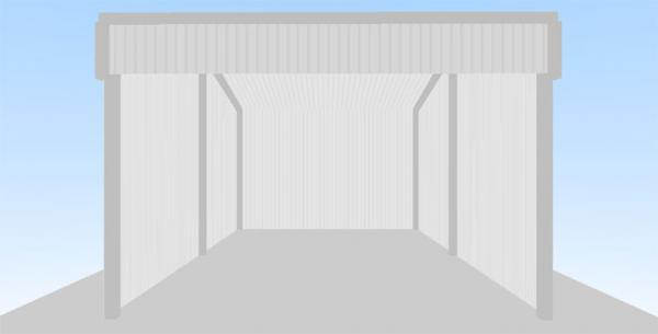 Open Front Shed 6m X 4m X From