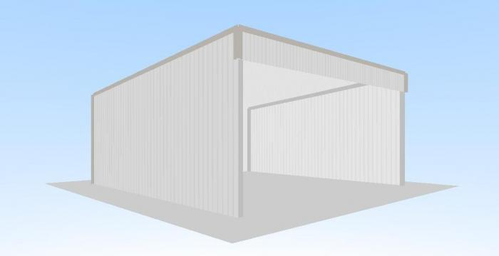Open Front Shed 6m X 6m X Classic Skillion Roof