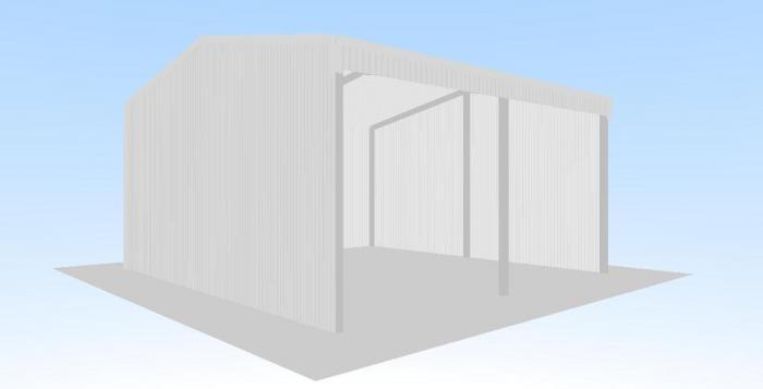 Open front shed 6m x 6m x gable roof shed for Open front shed