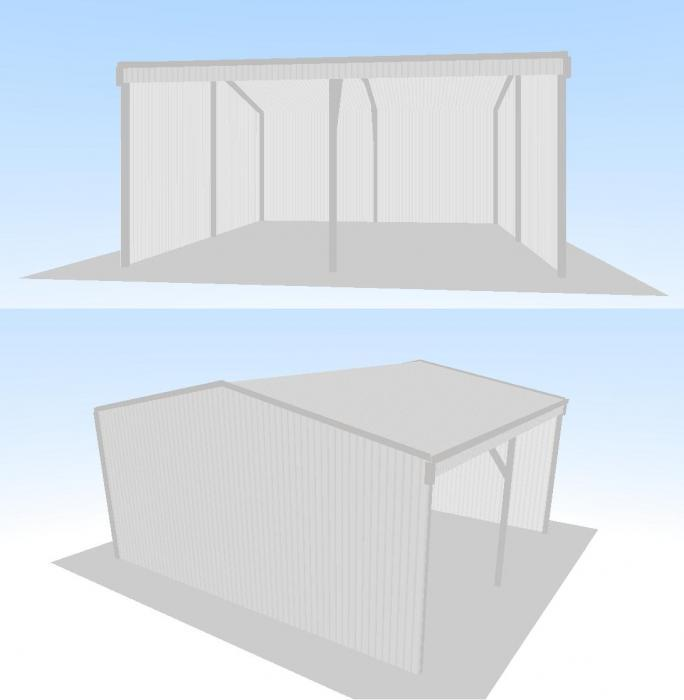 Open Front Shed X 7m X Gable Roof Shed