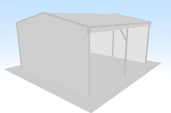 Open front shed x x gable roof for Open front shed