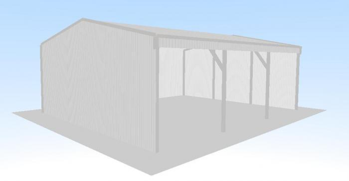 Open Front Shed X X Gable Roof Shed