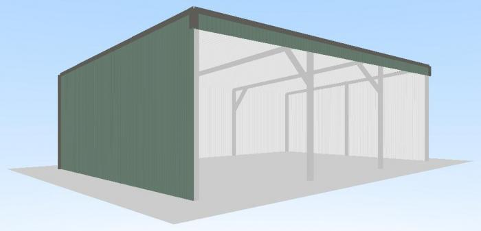 Open front shed x x skillion roof shed for Open front shed